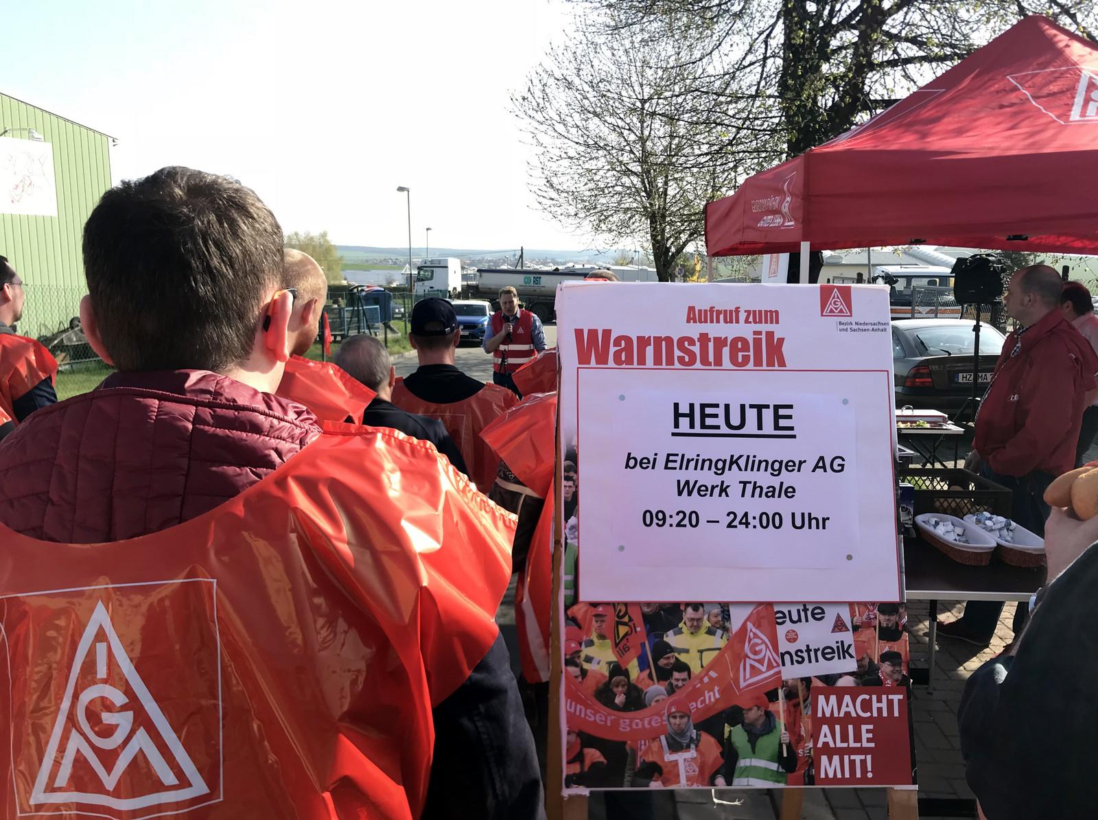 Warnstreiks Bei Elringklinger Gehen Weiter Ig Metall Halberstadt
